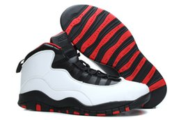 2016 high quality cheap man air retro 10 X basketball shoes Chicago Seattle Steel Grey Powder sport sneaker shoes us size 8-13