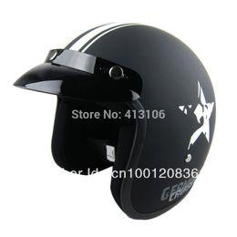 Cascos de moto de época en venta-el envío al por mayor-Libre / casco de fibra de vidrio de la motocicleta / la cara abierta de 3/4 de la vendimia retro casco jet, motocross moto Casco Capacete ECE