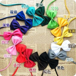 Wholesale 100pcs New Arrival Pet Dog Neckties Bowtie Mix color Polyester Cute Dog Bow Tie Dog Grooming Products