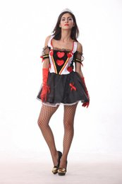 Wholesale Halloween Queen of Hearts Queen of Spades fitted dress COSPLAY nightclub DS costumes witch mounted