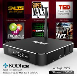 Wholesale Amlogic S905 T95 Android TV Box KODI XBMC installed Quad Core Smart TV Boxes Skybox WIFI Google Play K OTT TV Media Player