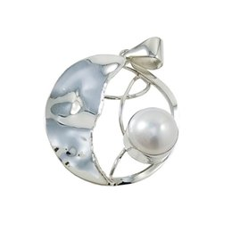 Unique 925 Silver Pendants for Party Prom Elegant Style Best Pearl Charm Unadjustable Discount Silver Jewelry for N3137