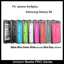 For iphone 6s 6plus Unicorn Beetle PRO Series Full-body Rugged Holster Cases for Samsung Galaxy S6   S6 Edge With Swiveling Belt Clip