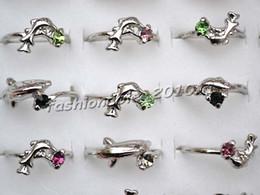 Rings Jewelry 100pcs   lots CZ Rhinestone Silver Plated Children Ring 13-16mm