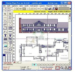 Wholesale Architectural Interior Design Software HomePlanSoft Home Plan Pro v5 ENGLISH