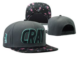 Wholesale Cray Hat - Wholesale-2015 new CRAY adjustable baseball snapback hats and caps for men women grey floral brim sports hip hop cap good quality fashion