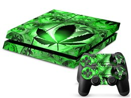 Green leaf Green World Vinyl Decal PS4 Skin Stickers for Sony PlayStation 4 PS4 Console+2 Pcs Stickers for Controllers