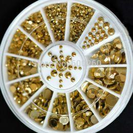 Nueva venta caliente 5 tamaños DIY 3D Nail Art decoración acrílico Glitter oro Rhinestone 2015 envío gratis $18 la orden sin seguimiento desde órdenes de uñas acrílicas proveedores