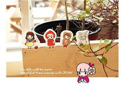 Wholesale Free ship set pc Transparent PVC cartoon decorate Sticker Pink bean pea girl cartoon diary seal