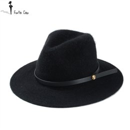 Wholesale-2015 Hot Autumn and winter wool fedora hat free shipping Hat for man and women Big brim size hat Fine bandwidth eaves