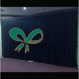 Free shipping Black Wedding Backdrop Curtain With The Set Backdrop Pipe Stand \ Stent 10ft*20ft