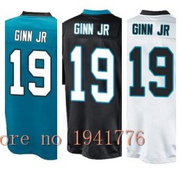 Wholesale Factory Outlet New Ted Ginn Jr youth Elite Football Jersey stitched Kids Ginn Jr game size S XL black light blue white boys jerseys