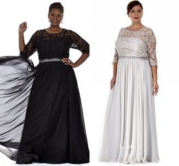 Black Silver Plus Size Mother Of The Bride Dresses Appliques Plus Size Mother Evening Gowns Formal Prom Dress With Bling Sequins Waist