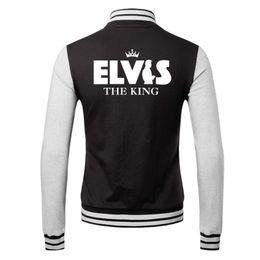 Wholesale Fall hot sell heavy metal band Elvis band Classic Jacket lover s Sweatshirt baseball uniform