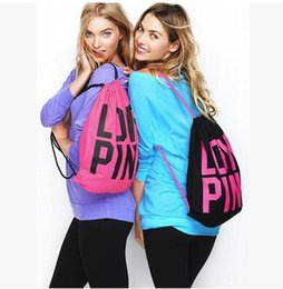 2015 new arrive fashion polyester bag, LOVE PINK letter candy color women' backpack, receiveand shopping bag