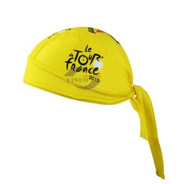 Free Shipping 2015 Tour De France Pro Team Yellow Cycling Headbands Scarf cap Bicycle Bike Bandana Accessories Breathable Cycling Hat