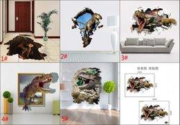 Wholesale Best sales New D dinosaur Wall Stickers Decorative Wall Decal Cartoon Wallpaper Kids Party Decoration Christmas Jurassic Park Art