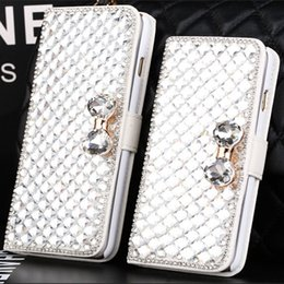 Wholesale Luxury Diamond Cell Phone Case Cover Stand flip cover case for Iphone plus C Samsung Galaxy S6 S5 S4 Note