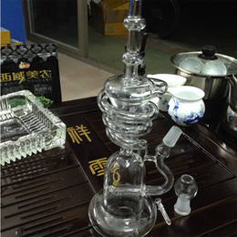 glass oil rigs Recycler spiral tall bongs recycler rig with perc new glass bongs smoking glass water pipes