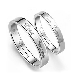 Free shipping 925 sterling silver jewelry noble simple couple light love forever letter ring