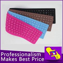 Venta al por mayor 107-teclas portátil plegable impermeable flexible suave silicona MINI WIRED teclado USB para Tablet PC wired usb silicone keyboard wholesale deals desde usb con cable al por mayor del teclado de silicona proveedores