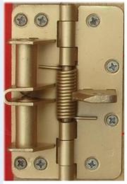 4 inch spring automatic door closing position Invisible door hinge sliding alloy door stop 90 degree orientation function 002-3