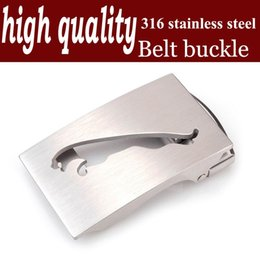 high quality men's automatic belt buckle belt agio 316 stainless steel skin to take the lead animals CJC0358