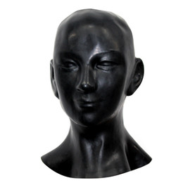 Wholesale-New plus thick 1mm Anatomical 3D mask w ears fetish latex hood Sexy rubber Smile face heavy men women