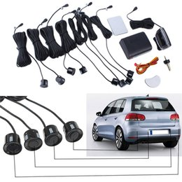 Wholesale 8 Sensors mm Car LED Parking Sensor Kit Backlight Display Reverse Backup Radar Monitor System Car Detector V