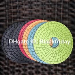 Wholesale Floor Polishing Pad quot mm Wet Diamond Polishing Pads For Granite Marble Concrete Stone Buffing Pad Abrasives