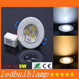 Warm White Dimmable 9W Led Recessed Downlight 120 Angle Energy Saving Led Down Light 220-240V Replace 45W Halogen Lamp