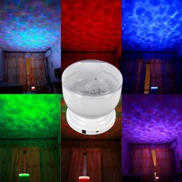 Wholesale Carton Romantic LED Aurora Master Colorful LED Night Light Ocean Wave Projector Speaker Lamp with USB Christmas Gift Night Lamp Light