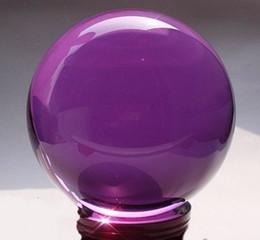 Jade carving Asian Rare Natural Quartz purple Magic Crystal Healing Ball Sphere 80mm+Stand
