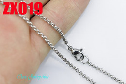 Wholesale - 2mm stainless steel necklace round rolo link chains women fashion jewelry sweater chain 10pcs ZX019