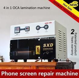 Wholesale 2015 Factory Direct Build in Vacuum Pump and Air Compressor OCA LCD Laminating Machine Powerful Mobile Phone Repair Equipment