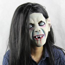 Sadako Ghost Mask Halloween Full head All Saints' Day Mask Latex Creepy Scary mask horror monster mask