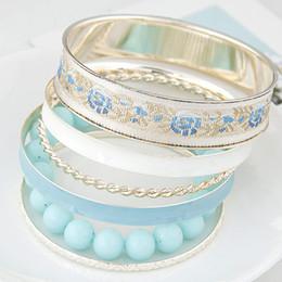 Fashion Multi layer Gold Bracelets Bangles For Women Bijoux Gold Bangles Beads Chain One Direction Charm Bracelet Manchette