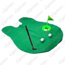 Wholesale Mini Bathroom Toilet Golf Game Sports Toy Play Set Potty Golf Putting For Golf Lover