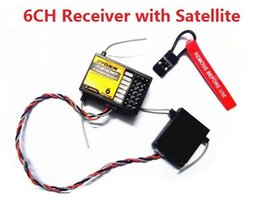 Wholesale S600 GHz ch RC Receiver with Satellite AR6210 RC receiver Digital Spread Modulation for JR DX6i DX7 DX8 Helicopter Airplane Quadcop