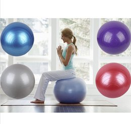 Wholesale Candy color Arrivals cm Exercise Ball Air Pump Body Slimming For Yoga Fitness Pilates Home Gym colors