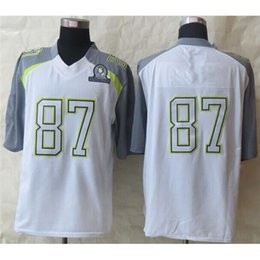 Wholesale 2015 Pro Bowl Football Jerseys White Elite All Star Jerseys Brand Embroidery High Quality Football Shirts Team New Jersey Brand Shirts
