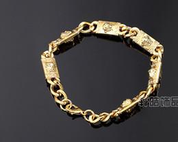 Wholesale European and American jewelry novelty alloy HIPHOP hip hop DJ Pharaoh tide ride bracelet bracelet bar