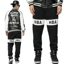 Wholesale Hip Hop Brand HBA Sweatpants Mens Calca Swag Sport Dancing Pants Pyrex Loose Joggers Cargo Pants Hood By Air Masculina