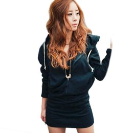 Wholesale Sexy Crochet Dresses For Women - Wholesale-Casual Wings Printed Long Sleeve Women Hooded Sexy Long Crochet Sweater Dress Outwear For Hot Selling