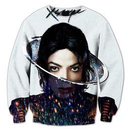 Wholesale Real USA Size Xscape Icon Michael Jackson Fashion D Sweatshirt All over print Sweatshirt Crewneck Plus Size fleece streetwear