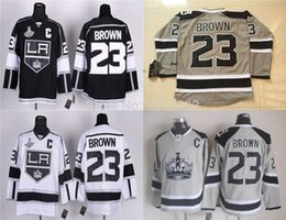 Factory Outlet, Dustin Brown Jersey Stadium Series Los Angeles Kings Jersey Brown Authentic LA Kings Hockey Jerseys Team Color Home Stitched