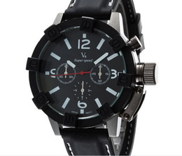 Wholesale V6 Fashion Casual Quartz Men Watch special dial sport Wristwatch Dropship silicone Clock Fashion Hours Dress Watch CHRISTMAS GIFT