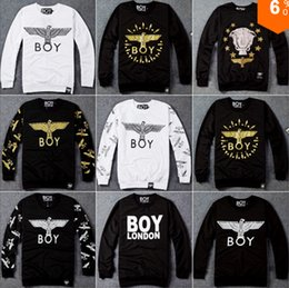 Wholesale New BOY LONDON women mens pullover and hoodies British Eagle Men hoodies autumn and winter sweatshirt suit