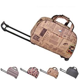 Wholesale Fashion Waterproof Tourism Trolley Bags Men Women Luggage Travel Bags Trolley Wheels Boarding Rolling Luggage JO0013