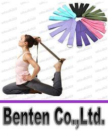 Wholesale 183 cm Long Type Yoga Stretch Strap Training Belt Waist Leg Fitness Gym Gym D Ring Pilates Fitness Figure Waist Leg LLFA4696